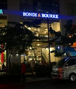 The restaurant from outside. Located at Burgos Circle.