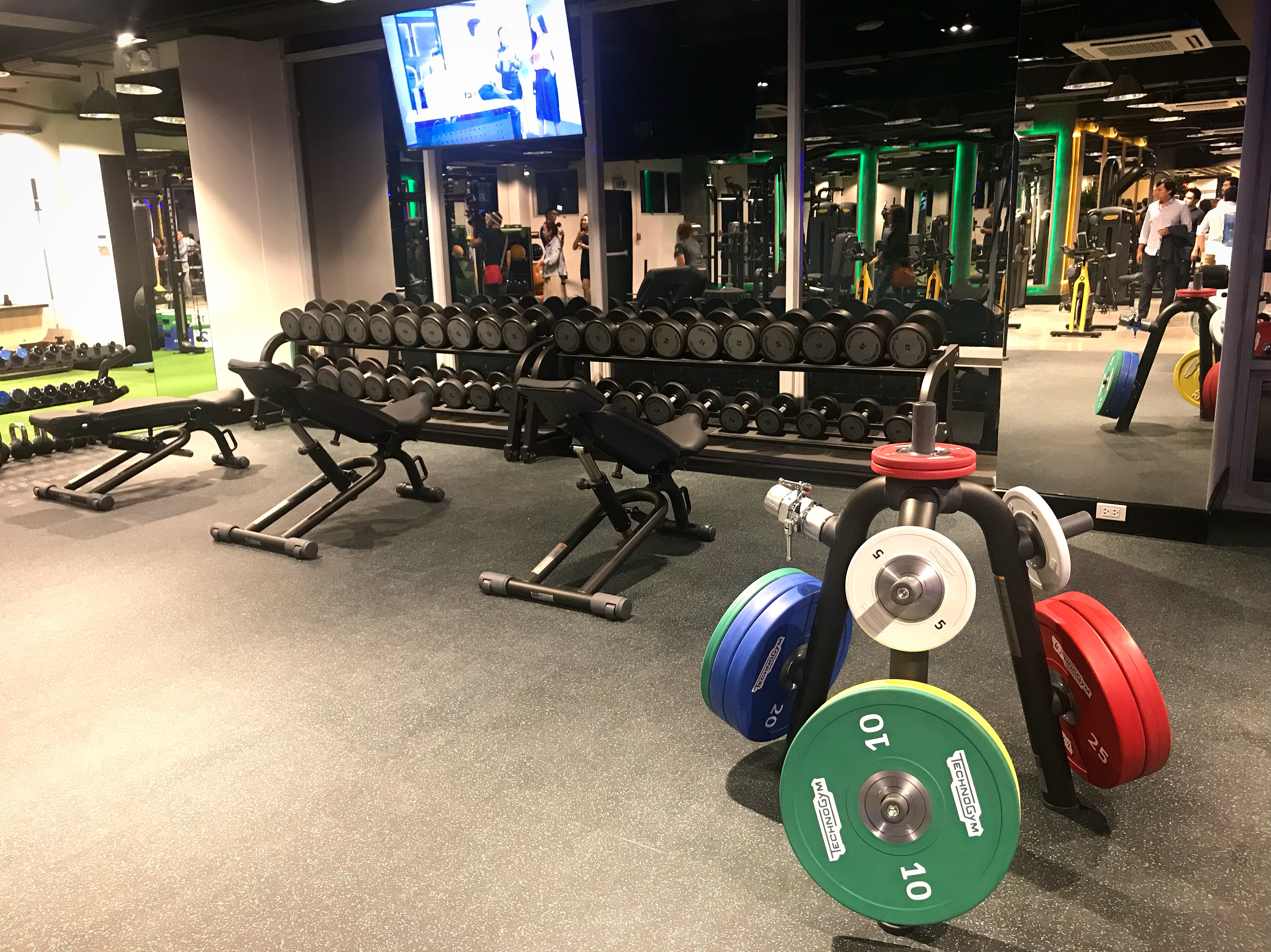 Weights area to pump up those muscles!