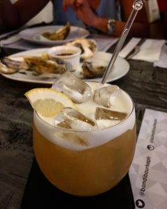 The dessert: Amaretto Sour. (Alcoholic me talking haha!)