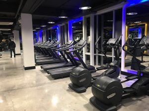The treadmill lineup --- all brand new from Technogym!
